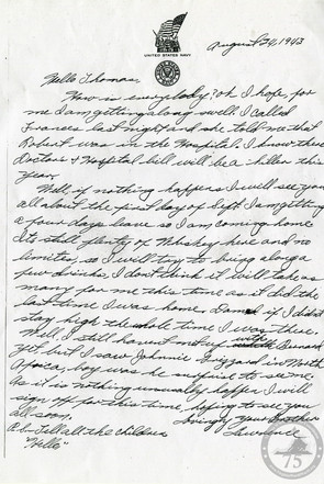Gordon, Lawrence - WWII Letter
