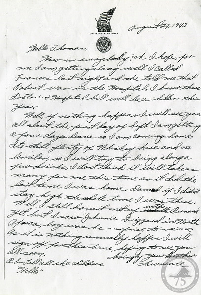 Gordon, Lawrence - WWII Letter