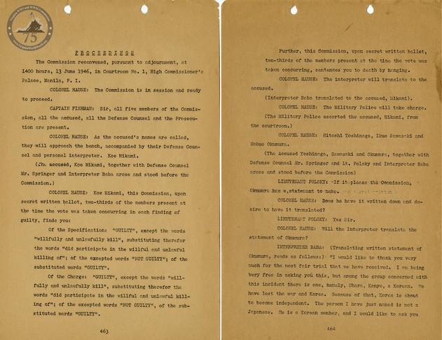 Manila War Crimes Trials - 3