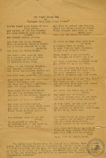 Clancey, Coleman - WWII Document