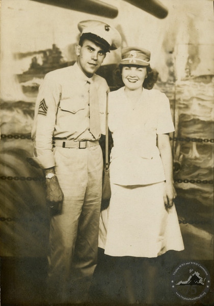 Barrows, Shirley & John - WWII Photo