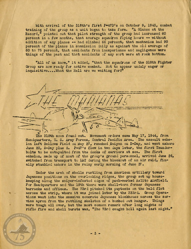 """Highlights from """"The History of the 318th Fighter Group"""" - Page 03"""