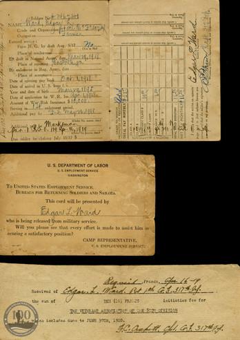 Ward, Edgar L. - WWI Documents