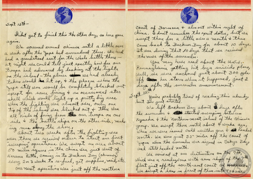 Harris, James A. - WWII Letter