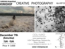 セレステ・ウレアガ写真ワークショップ Celeste Urreaga's Photography Workshop 12/7 3 - 6 pm