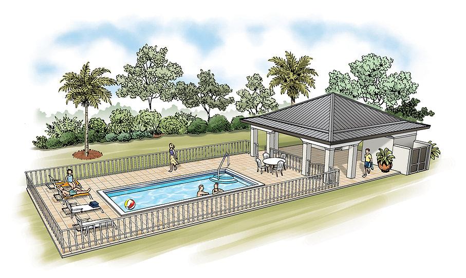 Sarasota Town House Pool