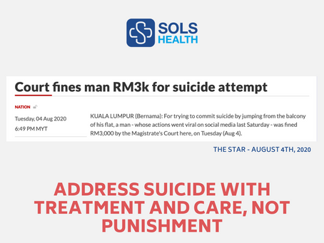 Address Suicide with Treatment and Care, Not Punishment