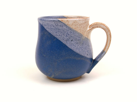 Matt Blue and Speckle White - Mug