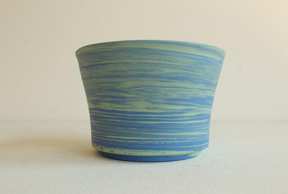 Marbled porcelain -  sky blue & mint green