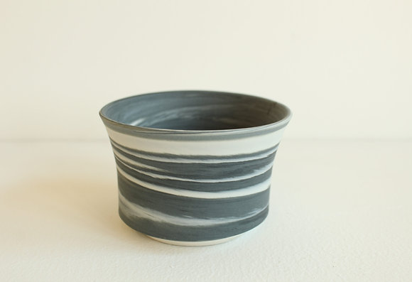 Marbled porcelain - black & white ( Small)