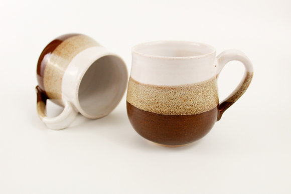 Tenmoku and White mug
