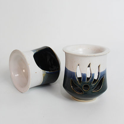 Stormy blue and white Oil-burner