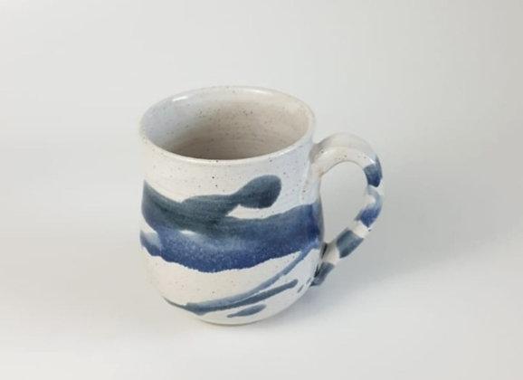 White and blue - Mug
