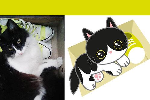 Dibujo Kawaii de tu mascota