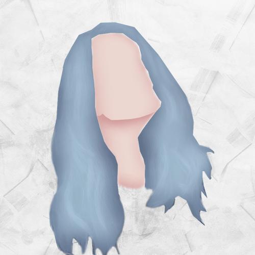 Blue Hair Silhouette