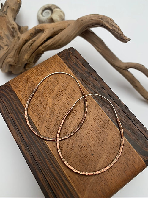 Extra large copper hoops