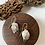 Thumbnail: Silver and opal two leaf earrings