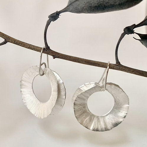 Silver feathered dangle