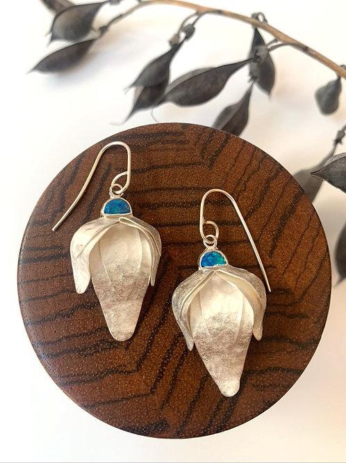 Sterling silver earrings with Australian opal