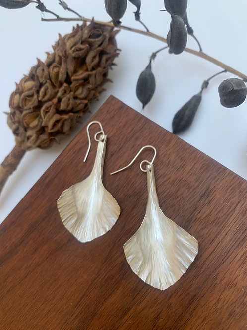 Silver spades earrings