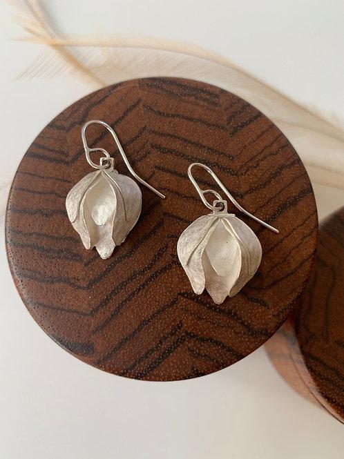 Sterling silver artichoke earrings
