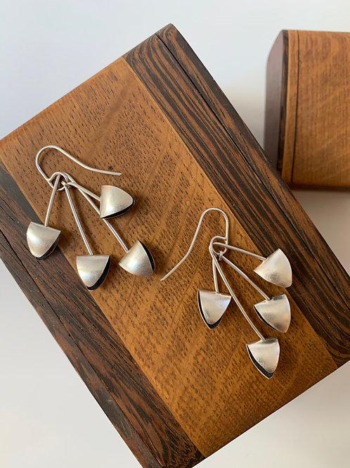Sterling silver mobile earrings