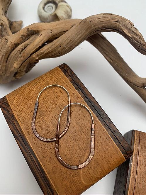Oblong copper hoops