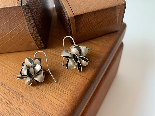 Small pod dangle earrings