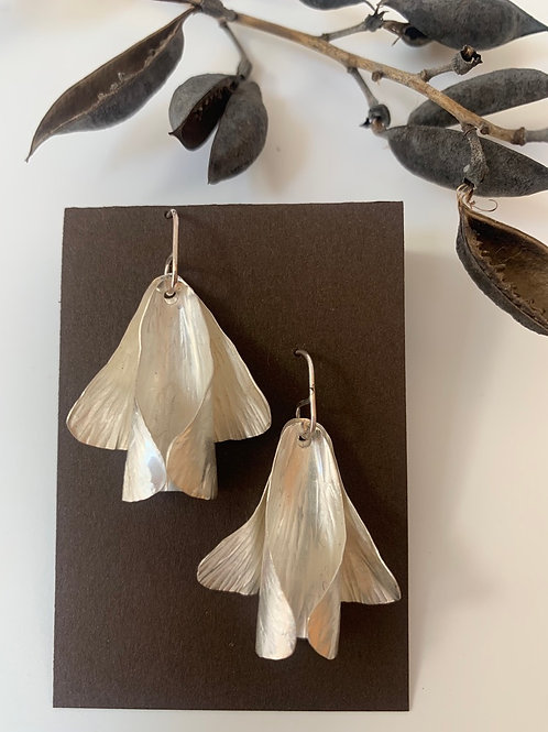 Sterling silver moth earring