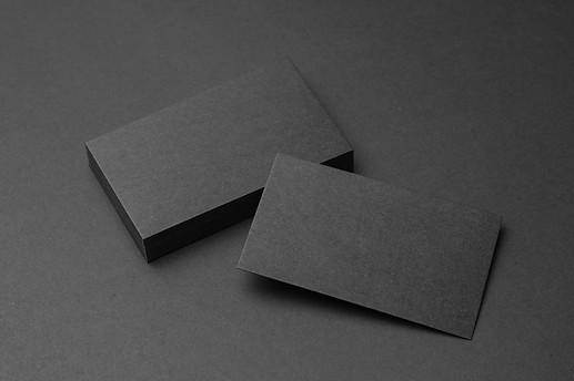 black business cards