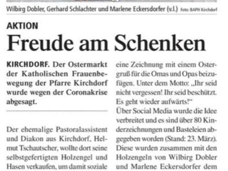 """Erinnerungen an unsere Aktion """"FREUDE AM SCHENKEN"""" - Ostern 2020"""