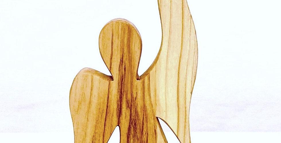 Zeigender Engel, klein  16 - 17 cm