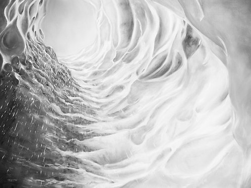 Glacier Ice Tunnel, Sólheimajökull         (Fine Art Print)