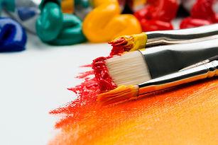 colourful paint brushes - anna kolosyuk.