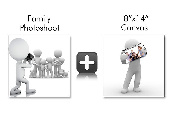 """1 Hour Photo Shoot With 8""""x 14"""" Canvas"""