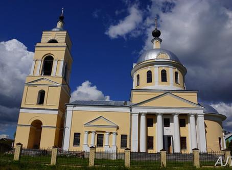 Село Дерюзино. Никольский храм.