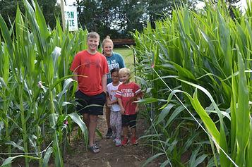 A Davies hiding in our corn maze