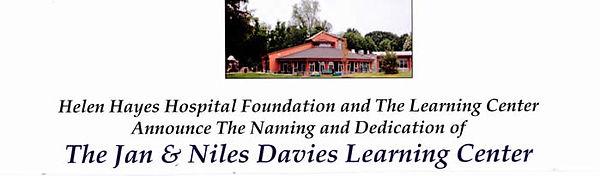 Jan & Niles Davies Learning Center at Helen Hayes Hospital