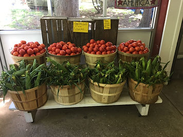 The best of Dr. Davies!  Our farm fresh corn and tomatoes!