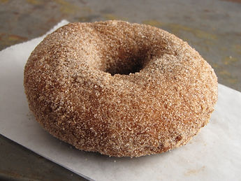 Our famous Dr. Davies Apple Cider donuts, hot & fresh