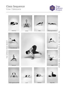 Yoga class sequence toward Bakasana