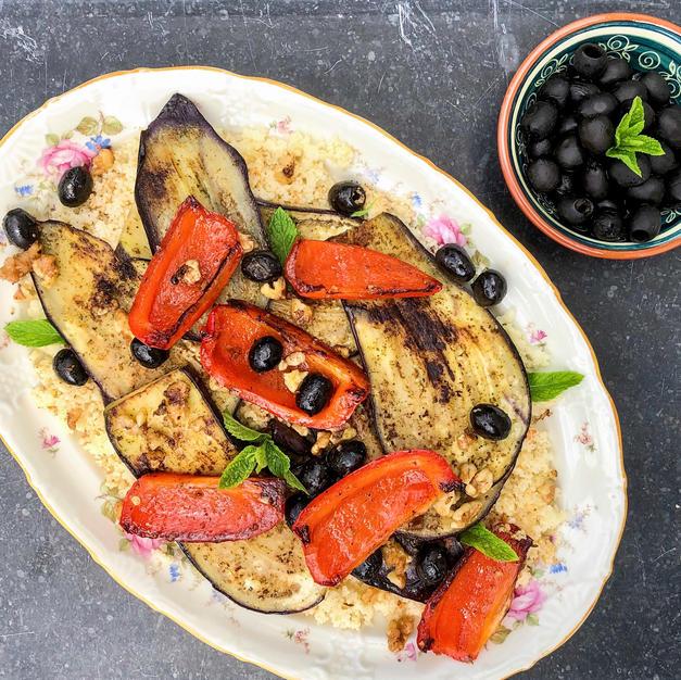 Couscous met gegrilde groentes