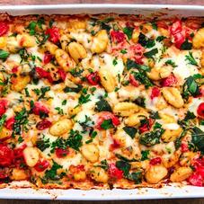 Oven-baked gnocchi