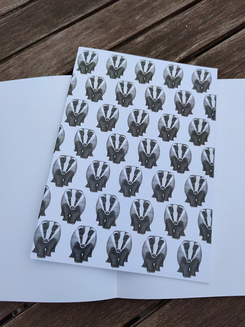 Badger Badger Badger A5 Notebook