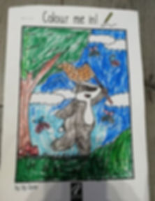 May 2020 Badger Time colouring competiti