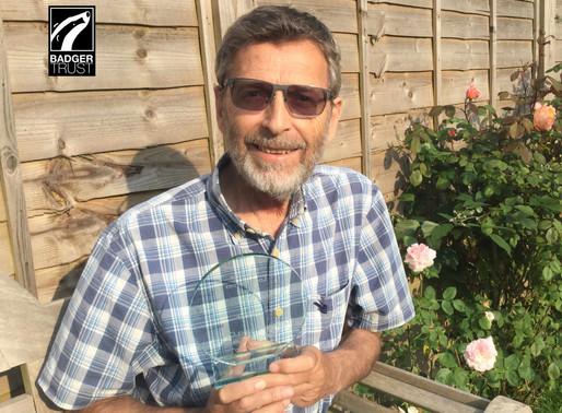 Badger Trust Volunteer Receives 'Invisible Hero' Award