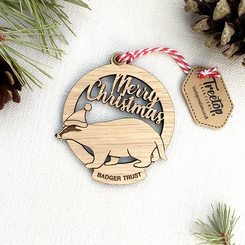 Badger Trust Christmas Bauble