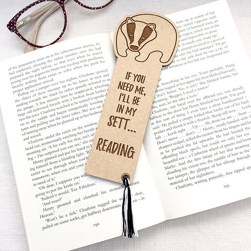 Woodland Badger Bookmark