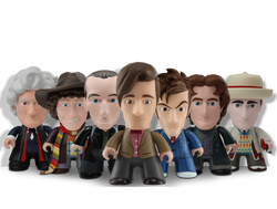 sculptworks vinyl collectible doctor who on shelf