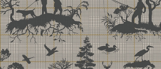 Outdoorsmen Toile Wallpaper